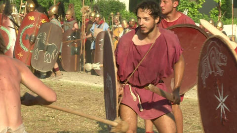 celt roman attack 43 Stock Video Footage