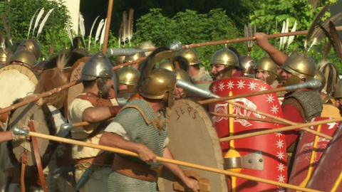 celt roman attack 45 Stock Video Footage