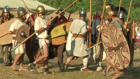 celt roman attack 47 Stock Video Footage
