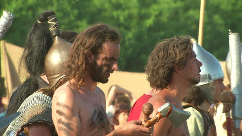 celt roman battle final 62 Stock Video Footage