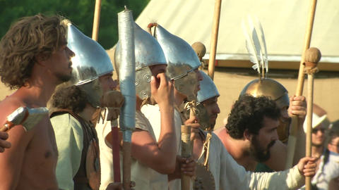 celt roman battle final 62 Stock Video Footage