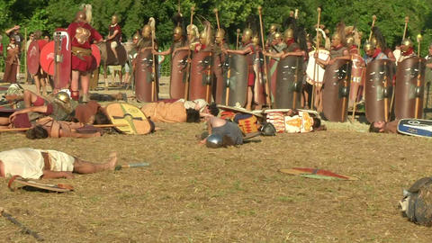 celt roman battle final 64 Stock Video Footage