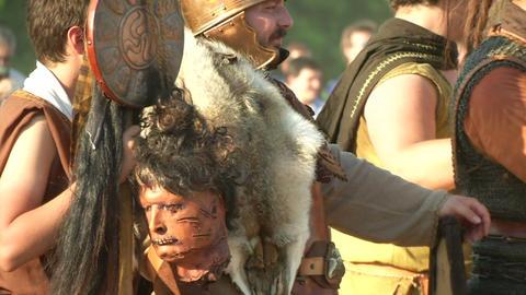 celt roman battle final 66 Stock Video Footage