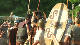 celt roman battle final 68 Stock Video Footage