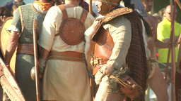 celt roman battle final 68 Stock Video Footage