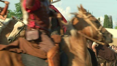 celt roman cavalry 02 Stock Video Footage
