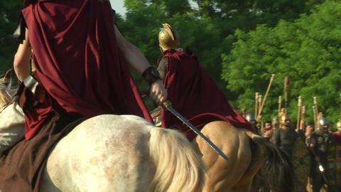 celt roman cavalry 02 Footage