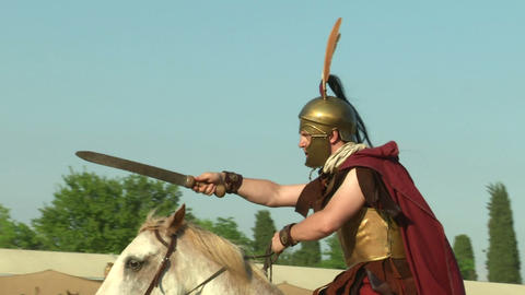 celt roman cavalry 04 Stock Video Footage