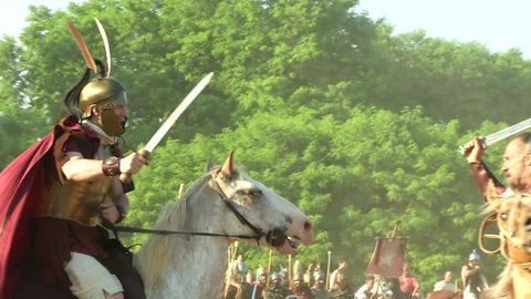 celt roman cavalry 04 Stock Video Footage