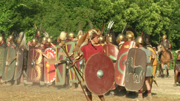celt roman fight 21 Stock Video Footage