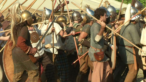celt roman fight 23 Stock Video Footage
