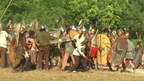 celt roman fight 25 Stock Video Footage