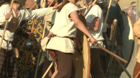 celt roman fight 27 Stock Video Footage