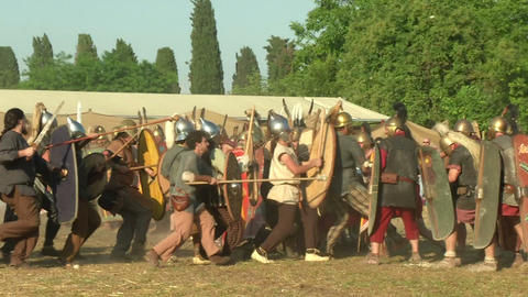 celt roman fight 52 Stock Video Footage