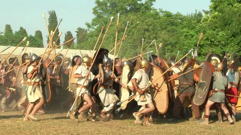 celt roman fight 52 Stock Video Footage