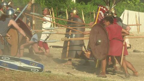 celt roman fight 54 Stock Video Footage