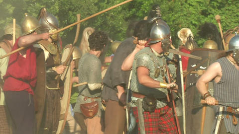 celt roman fight 54 Stock Video Footage