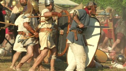 celt roman fight 56 Stock Video Footage