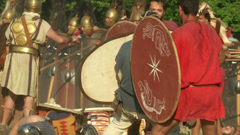 celt roman fight 56 Stock Video Footage