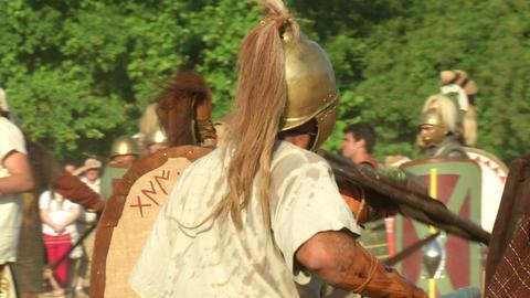 celt roman fight 58 Stock Video Footage