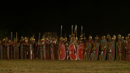 roman army night 02 Footage