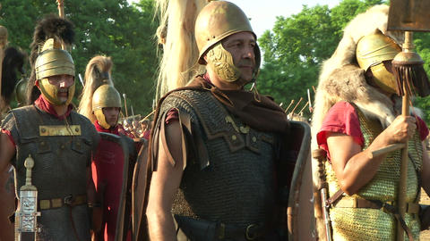 roman legion march 01 Stock Video Footage