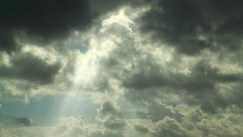 sunbeams moving clouds timelapse Stock Video Footage