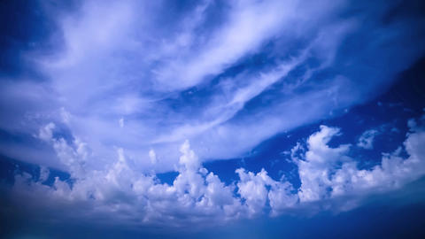 Stars appear between cloud Stock Video Footage