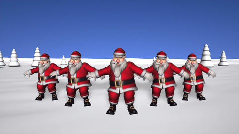 5 Dancing Santas Animation