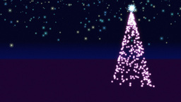 Christmas Tree Background Animation
