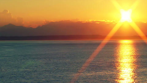 Sunset Over the Puget Sound, Time Lapse Stock Video Footage