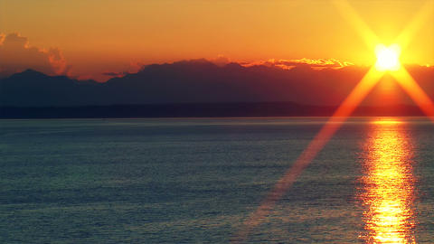 Sunset Over the Puget Sound, Time Lapse Footage