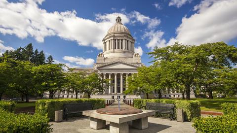 Washington State Capitol, Time Lapse Stock Video Footage