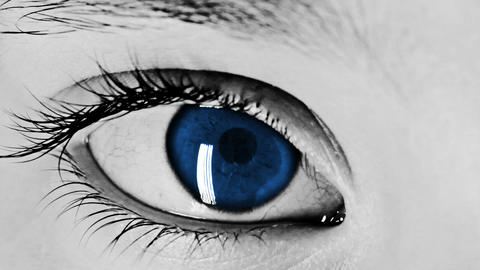 Eye Close-up Shot Blue Footage
