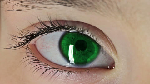 Eye 8110 green Stock Video Footage