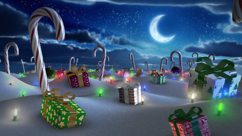 Christmas Land stock footage
