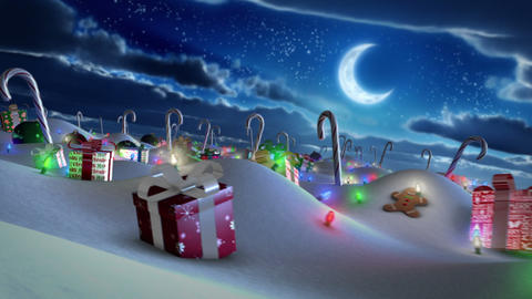 Christmas Land Stock Video Footage