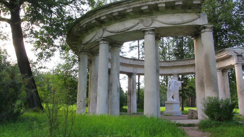 apollo colonnade in Pavlovsk park St. Petersburg R Stock Video Footage