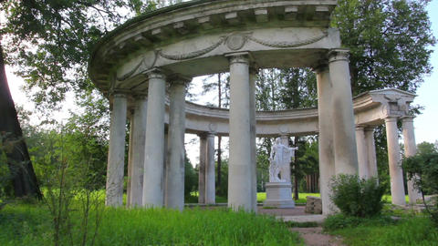 apollo colonnade in Pavlovsk park St. Petersburg R Footage