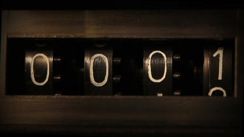 old mechanical counter quickly counts numbers - ma Stock Video Footage