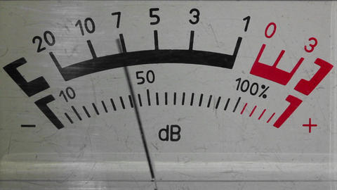 decibel meter - part of sound equipment Stock Video Footage