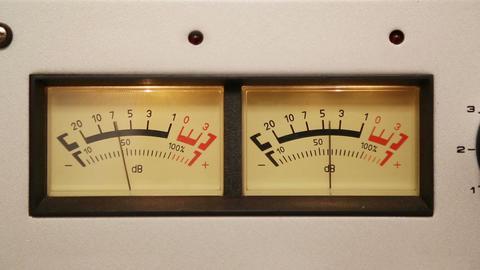 stereo decibel meters - part of sound equipment Stock Video Footage