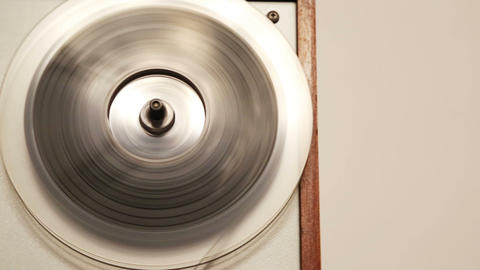 old reel tape recorder with fast spinning reels - Stock Video Footage