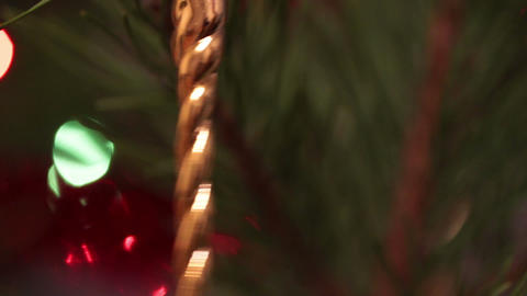 decorated christmas tree with flashing garlands cl Stock Video Footage