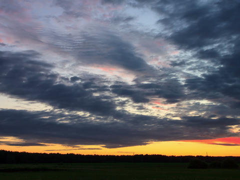 Cloud melts at sunset. Time Lapse. 4x3 Stock Video Footage
