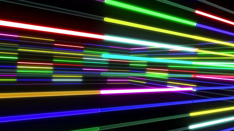 Neon tube R b A 1 HD Stock Video Footage