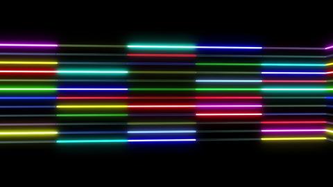 Neon tube R b B 1 HD Stock Video Footage