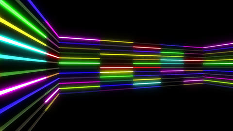Neon tube R b C 1 HD Stock Video Footage