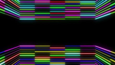 Neon tube R b E 1 HD Animation