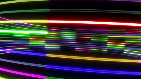 Neon tube R c A 1 HD Stock Video Footage